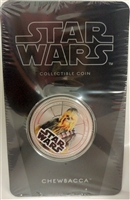 2011 Niue $1 Star Wars - Chewbacca Silver Plated Coin in Card
