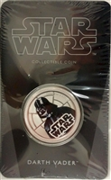 2011 Niue $1 Star Wars - Darth Vader Silver Plated Coin in Card