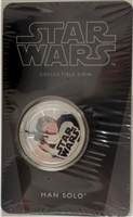 2011 Niue $1 Star Wars - Han Solo Silver Plated Coin in Card