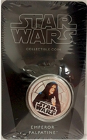 2011 Niue $1 Star Wars - Emperor Palpatine Silver Plated Coin in Card