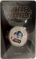 2011 Niue $1 Star Wars - R2-D2 Silver Plated Coin in Card