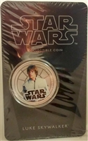 2011 Niue $1 Star Wars - Luke Skywalker Silver Plated Coin in Card