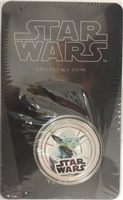 2011 Niue $1 Star Wars - Yoda Silver Plated Coin in Card