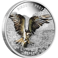 2013 Niue $2 Birds of Prey - Osprey Silver Coin (TAX Exempt)