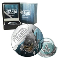 2013 Niue $2 Real River Monsters - Piranha Silver Proof (Tax Exempt)