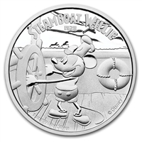 2014 Niue $2 Disney Mickey Mouse & Steamboat Willie (Tax Exempt)