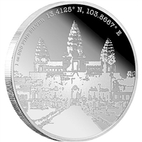 2015 Niue Forgotten Cities Angkor Wat 1oz. Silver Coin (TAX Exempt)