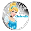 2015 Niue $2 Disney Princesses - Cinderella Proof Silver (No Tax)