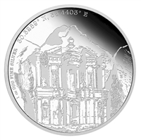 2015 Niue $2 Forgotten Cities - Petra Proof Silver (TAX Exempt)