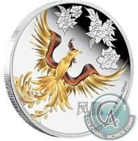 2015 Niue Feng Shui Silver Coin - The Phoenix (No Tax) scratched capsule
