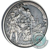 2016 Niue $5 Journeys of Discovery - Christopher Columbus 2oz (No Tax)