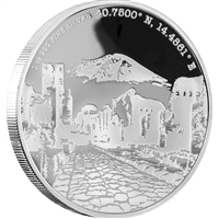2016 Niue Forgotten Cities - Pompeii $2 1oz. Silver Coin (TAX Exempt)