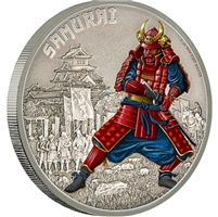2016 Niue $2 Warriors of History - The Samurai Antique Finish (No Tax)