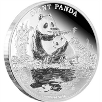 2016 Niue $2 Endangered Species - Giant Panda Proof Silver (No Tax)