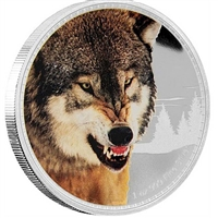 2016 Niue $2 King of the Continents - Grey Wolf Proof Silver (No Tax)