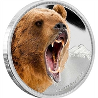 2016 Niue $2 Kings of the Continents - Grizzly Bear Silver (No Tax)
