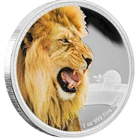 2016 Niue $2 King of the Continents - Lion Proof Silver (No Tax)