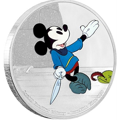 2016 Niue $2 Mickey Through the Ages - Brave Little Tailor (No Tax)