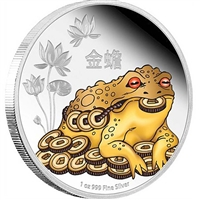 2016 Niue $2 Feng Shui - 3-Legged Money Toad Proof Silver (No Tax)