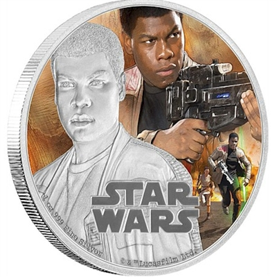 2016 Niue $2 Star Wars: The Force Awakens - Finn Silver Proof (No Tax)