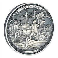 2016 Niue $5 Journeys of Discovery - Vasco Da Gama 2oz. (TAX Exempt)