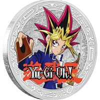 2016 Niue $2 Yu-Gi-Oh! - Yami Yugi Proof Silver Coin, (TAX Exempt)