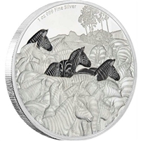 2016 Niue $2 Great Migrations - Zebra Proof Silver (TAX Exempt)