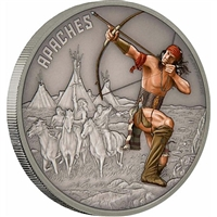 2017 Niue $2 Warriors of History - Apaches Antique Finish (No Tax)