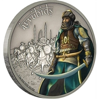 2017 Niue $2 Warriors of History - Ayyubids Proof Silver (No Tax)