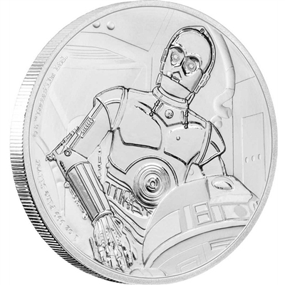 2017 Niue $2 Star Wars - C-3PO Fine Silver Coin (No Tax)