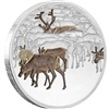 2017 Niue $2 Great Migrations - The Caribou Silver Proof (No Tax)