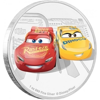 2017 Niue $2 Disney Pixar - The Cars 3 Fine Silver (No Tax)