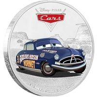 2017 Niue $2 Disney Pixar Cars - Doc Hudson Silver Proof (No Tax)