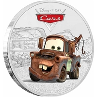 2017 Niue $2 Disney Pixar Cars - Tow Mater Silver Proof (No Tax)