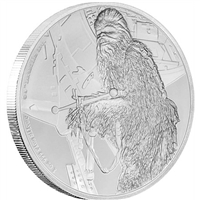 2017 Niue $2 Star Wars - Chewbacca Proof Silver (No Tax)