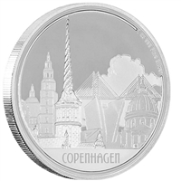2017 Niue $2 Great Cities - Copenhagen 1oz. Silver (TAX Exempt)