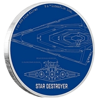 2017 Niue Star Wars Ships - Star Destroyer 1oz. Silver (No Tax)