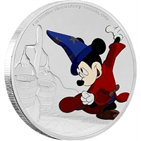 2017 Niue $2 Mickey Through the Ages - Fantasia Silver Proof (NO Tax)