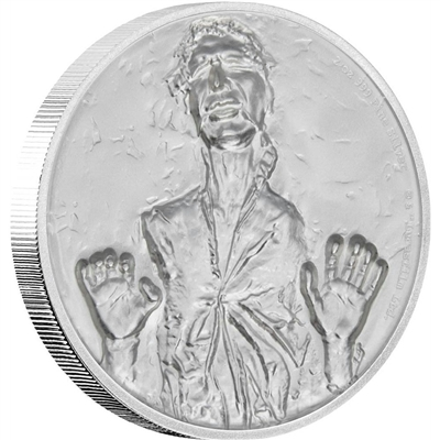 2017 Niue $5 Star Wars - Han Solo 2oz Ultra High Relief Silver (No Tax)