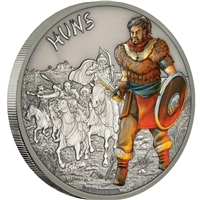 2017 Niue $2 Warriors of History - Huns 1oz. Fine Silver (No Tax)