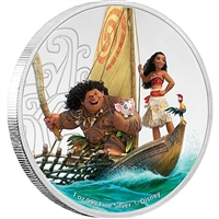 2017 Niue $2 Disney Coin Collection - Moana Silver Proof (No Tax)