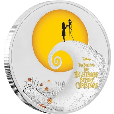 2017 Niue $2 The Nightmare Before Christmas Proof Silver (No Tax)