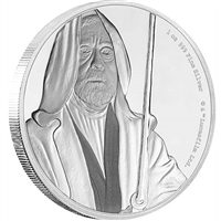 2017 Niue $2 Star Wars Classic: Obi-Wan Kenobi Silver Proof (No Tax)