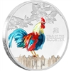 2017 Niue $2 Lunar Year of the Rooster Silver Proof (TAX Exempt)