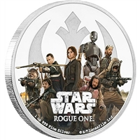 2017 Niue $2 Star Wars: Rogue One - Rebel Alliance Silver (No Tax)