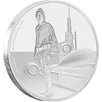 2017 Niue $2 Star Wars Classic: Luke Skywalker Silver Proof (No Tax)