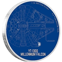 2017 Niue $2 Star Wars Ships - The Millennium Falcon Silver (No Tax)