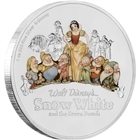 2017 Niue $2 Snow White & the Seven Dwarfs 80th Anniversary Silver (No Tax)