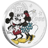 2017 Niue $2 Disney - True Love Forever Proof Silver (TAX Exempt)