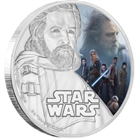 2017 Niue $2 Star Wars: The Last Jedi - Luke Skywalker Fine Silver (No Tax)